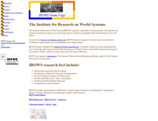 irows.ucr.edu screenshot