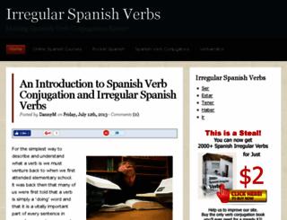 irregularspanishverbs.com screenshot
