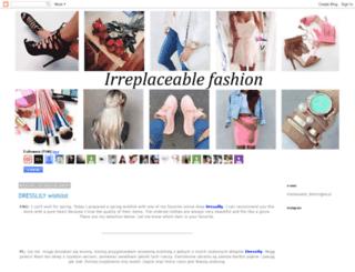 irreplaceable-fashion.blogspot.it screenshot