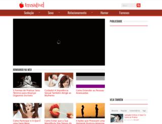irresistivel.com.br screenshot