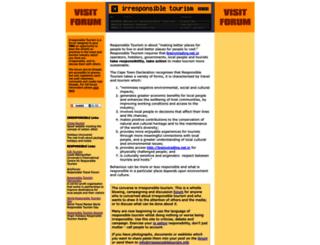irresponsibletourism.info screenshot