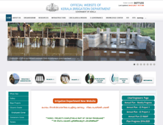 irrigation.kerala.gov.in screenshot