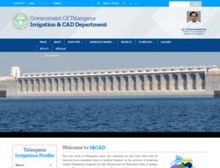 irrigation.telangana.gov.in screenshot