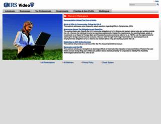 irsvideos.gov screenshot