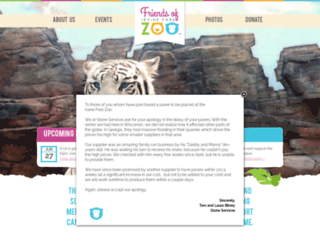 irvineparkzoo.org screenshot