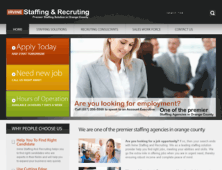 irvinestaffingandrecruiting.askforspecial.com screenshot