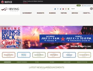 irvingtx.org screenshot