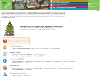 is.mendelu.cz screenshot