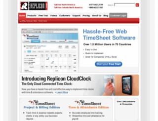 is.replicon.com screenshot