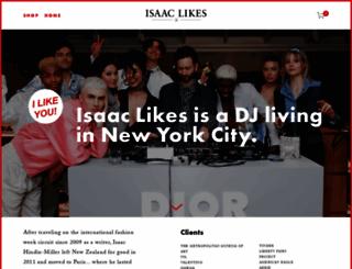 isaaclikes.com screenshot
