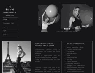 isabel-fitness-coach-vip.com screenshot