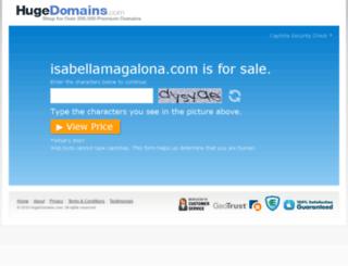 isabellamagalona.com screenshot