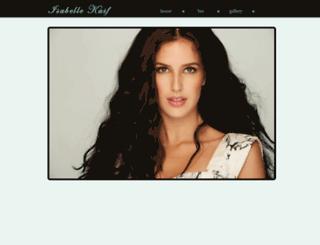 isabellekaif.org screenshot