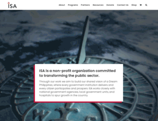 isacenter.org screenshot