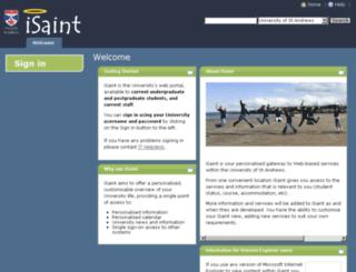 isaint.st-andrews.ac.uk screenshot