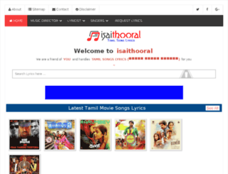isaithooral.com screenshot