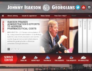isakson.senate.gov screenshot