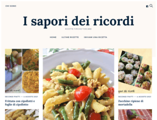 isaporideiricordi.com screenshot