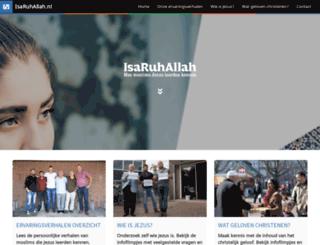 isaruhallah.nl screenshot