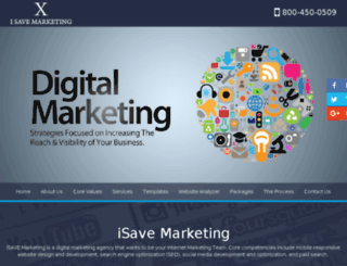 isavemarketing.com screenshot