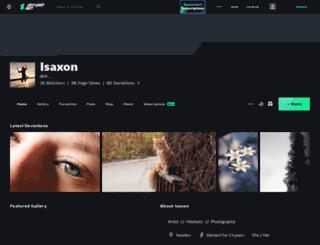 isaxon.deviantart.com screenshot