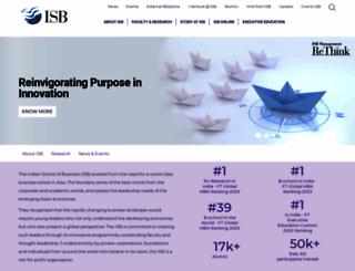 isb.edu screenshot