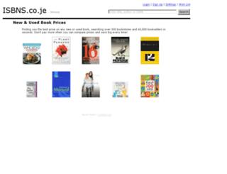 isbns.co.je screenshot
