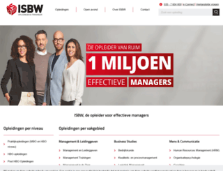 isbw.nl screenshot