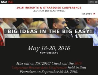 isc.marketingresearch.org screenshot