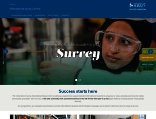 isc.surrey.ac.uk screenshot
