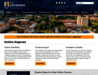ischool.uncg.edu screenshot