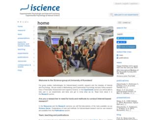 iscience.deusto.es screenshot