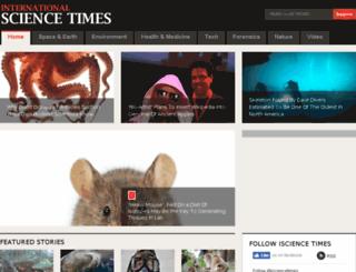 isciencetimes.com screenshot