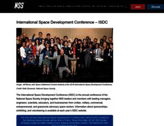 isdc.nss.org screenshot