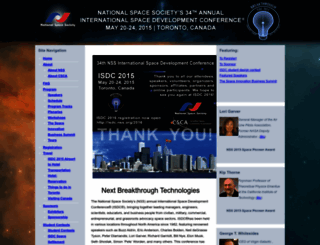 isdc2015.nss.org screenshot