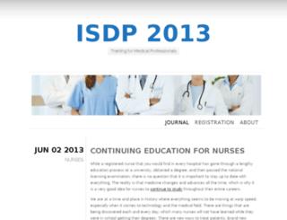 isdp2013.org screenshot