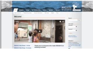 isea2012.org screenshot