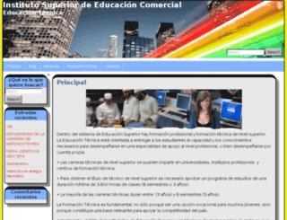 isec.edu.bo screenshot