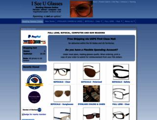 iseeuglasses.com screenshot