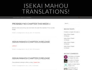isekaimahou.wordpress.com screenshot
