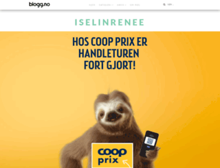 iselinrenee.blogg.no screenshot
