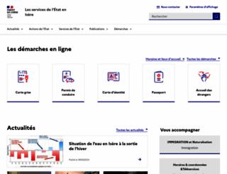 isere.pref.gouv.fr screenshot