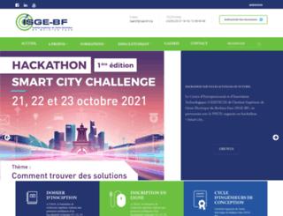isge-bf.org screenshot