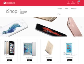 ishop.snapdeal.com screenshot