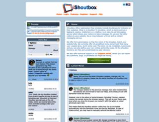 ishoutbox.com screenshot