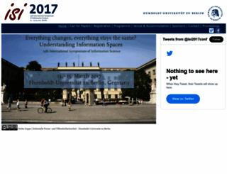 isi2017.ib.hu-berlin.de screenshot