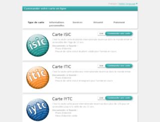 isicarte.fr screenshot