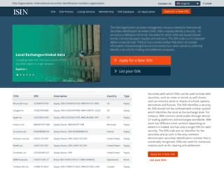 isin.org screenshot