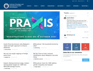 isis.org.my screenshot