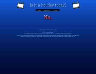 isitaholidaytoday.com screenshot